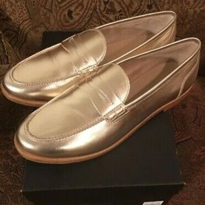Jcrew Nora Penny Loafers in Metallic Leather